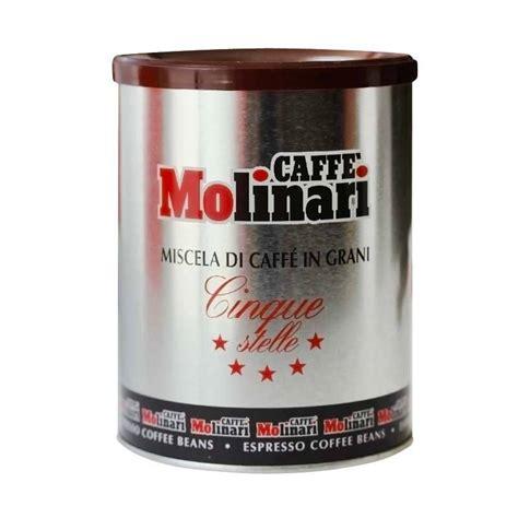 Кофе Molinari Cinque Stelle 250 гр в зернах