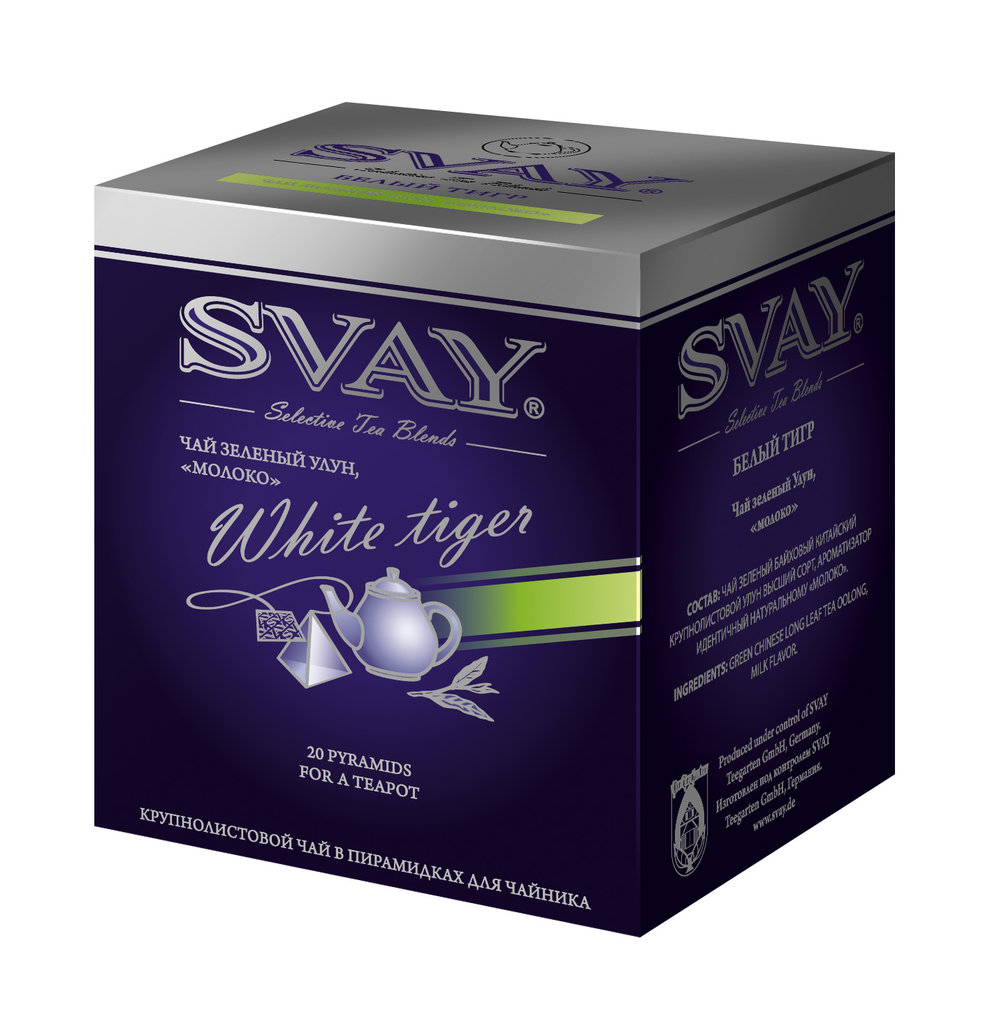 Чай SVAY White Tiger в пирамидках